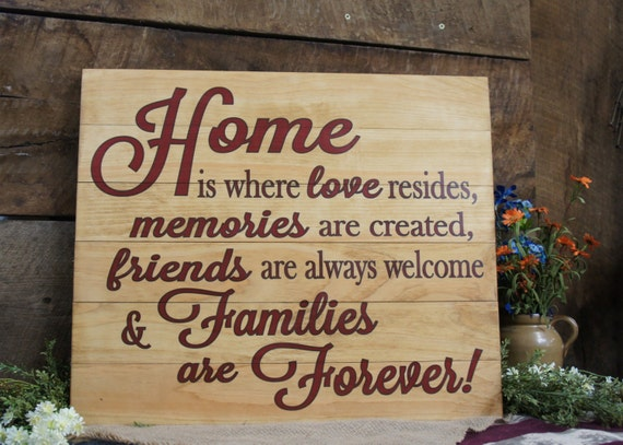 Home Is Where Love Resides Memories Are Created Friends Are