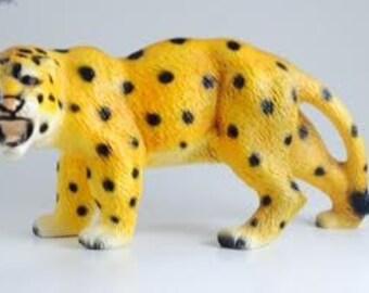 Vintage Porcelain Spotted Leopard, Japan