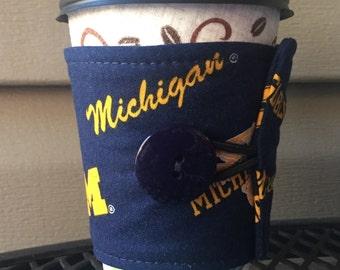 University of Michigan GO BLUE! Coffee/Hot chocolate wrap