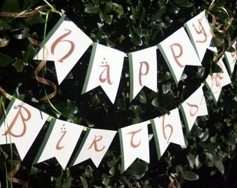 Elvish LOTR Birthday Bunting- Party banner