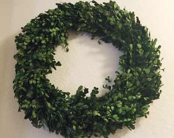 Preserved Boxwood Wreath, 20 inch