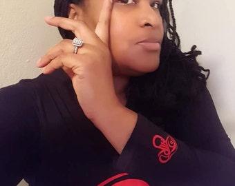 Fitted goddess long third eye gang shirts