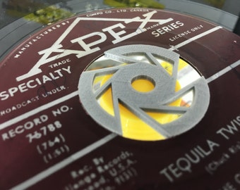 3 Pack of Custom designed 45 insert. Record 45 RPM, plastic 45, LP,45 adapter, vinyl adapter, LP,