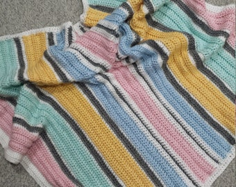 Crochet baby blanket, afghan, soft