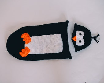 Poppy Penguin Hat and Cocoon Set