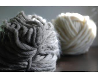 Chunky yarn Grey 1kg