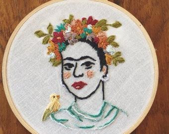 La Reina Frida Embroidery *SOLD*