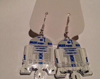 R2-D2 Star Wars Earrings, star wars fan,