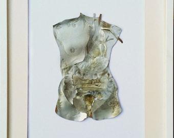Female Torso, framed, 40 x 50 cm