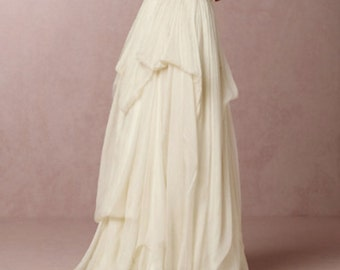 Belle- Long layered wedding skirt