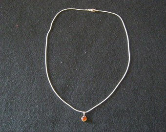 835 necklace pendant, silver stamped, length 45 cm, made ca. 1970, Germany