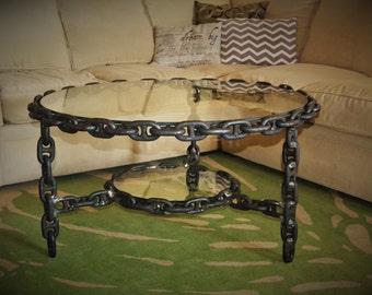 Chain / Glass Coffee Table
