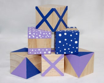 Dots and Crosses wooden play blocks
