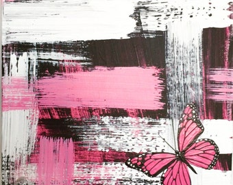 I love You Shabby Chic Butterfly