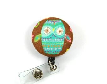OWL Badge Reel, Retractable Badge Reel, Owl Badge Holder, Owl lanyard