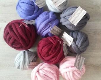 Yarn 105 oz (3000g)  Super Chunky Yarn Merino Wool 23 micron