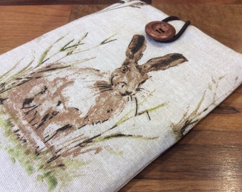 "Kindle paperwhite cover, kindle voyage, 6"" Fire HD, Kobo, Nook cover case, rabbit hare"
