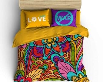 No War 4 Pieces Duvet Cover Set -  Stylish Bed Linen Set