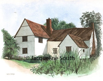 House and building portraits in watercolour