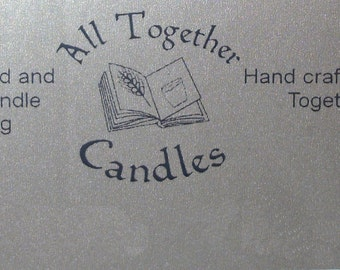 Scented Candles 100% Soy wax hand prepared and poured - Size large