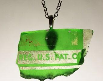 Green Glass Shard Necklace