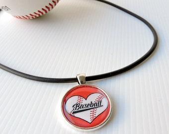 Baseball necklace - I love baseball