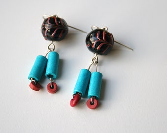 Funky Ceramic Drop Earrings