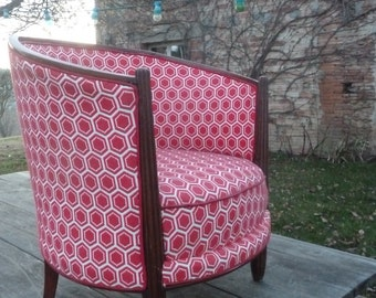 Chair covered with a fabric gemetrique Thonnet