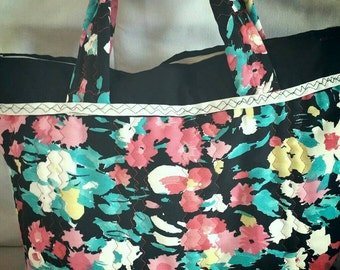 Quilted Floral Handbag