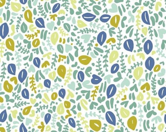 Delicata Turquoise - Kindred - Cloud9 Fabrics - Organic Cotton - Poplin by the Yard