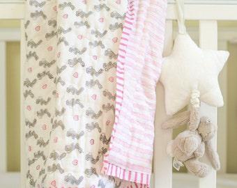Pink Bunny Cot Quilt