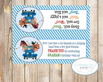 Little Blue Truck Treat Bag Tags