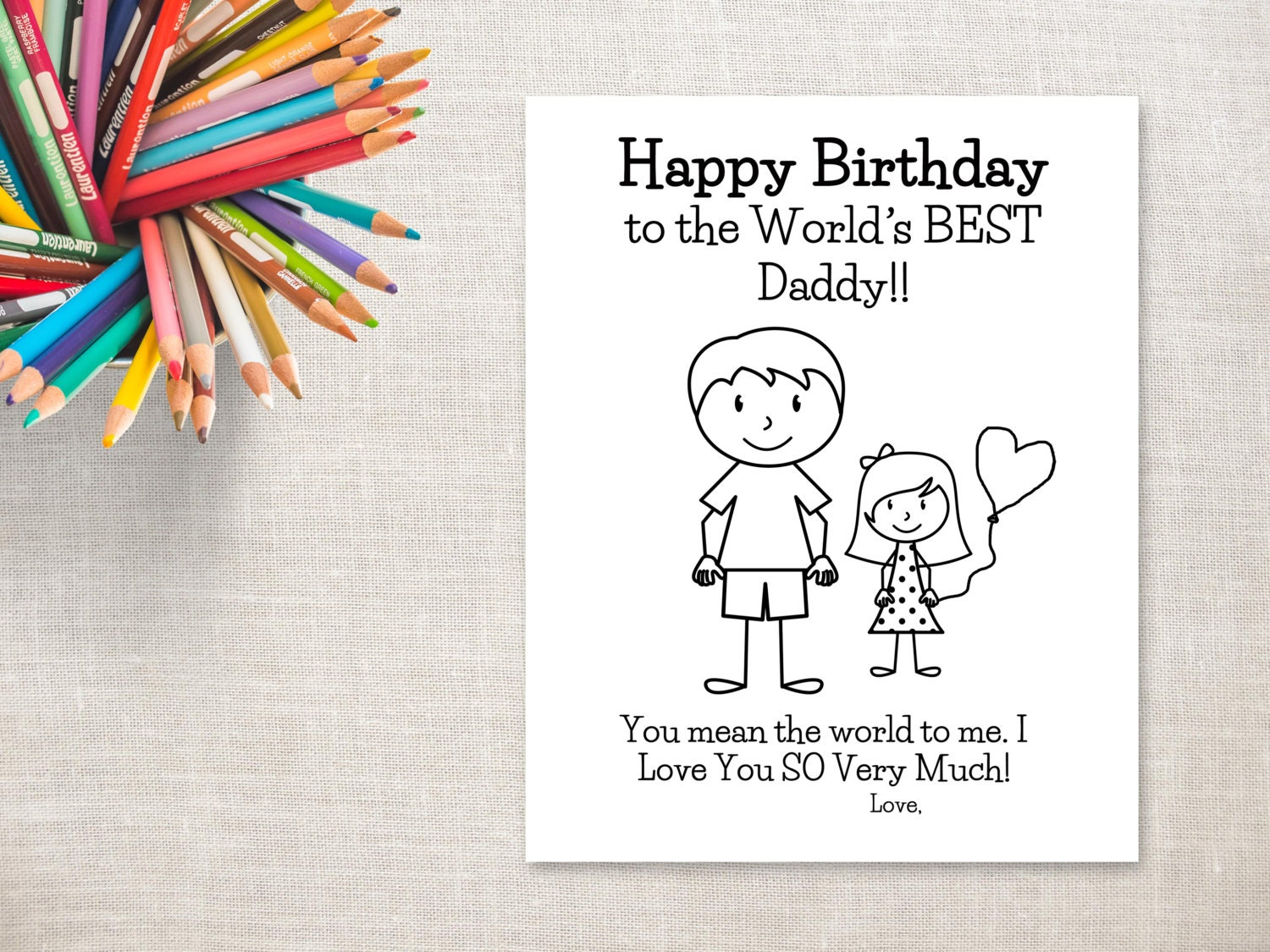 Gutsy image in printable birthday card for dad