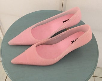Funky 80s Jelly Pointed Toe Kitten Heel Shoes