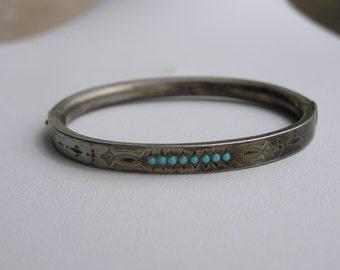Victorian Silver(800) Children Bangle Bracelet