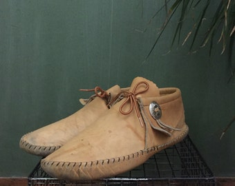 Vintage Mens Moccasins by Toal Size 9/9.5