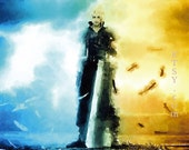 Final Fantasy Game art, digital poster , Watercolor featured image