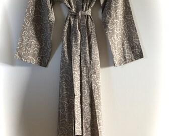 The Byron Store Stone Kimono Dressing Gown