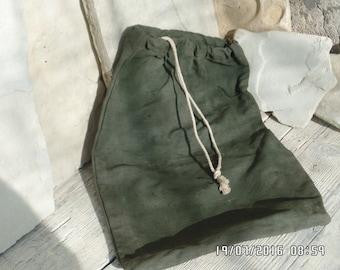 Vintage Military Duffle Bag Dark Green Canvas Tote Bag 1970s Military  Knapsack Drawstring Holdall Bag
