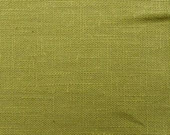 Linen natural - color: light green - 100% natural fiber - 0.5 m