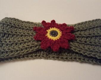 Red Dahlia Headband