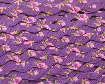 Deep Purple Floral Ricrac