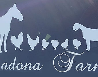 CUSTOM Farm/Family DECAL
