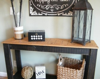 Rustic Console Table, Distressed Sofa Table, Hand Painted Entry Table, TV Stand, Country Side Table, Buffet Server