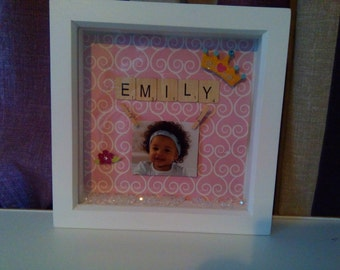 Name Frame with beads