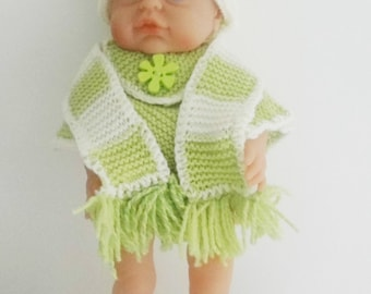 New Hand Knitted Dolls Clothes (to fit 16 (40cm) to 18 (45cm) inch dolls)