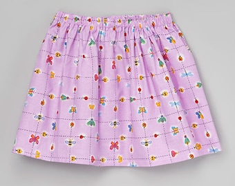 Spring Lavender bug Twirl Skirt