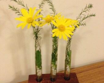 Jarrah   3 tube Specimen vase