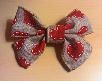 Heart Hair Bow