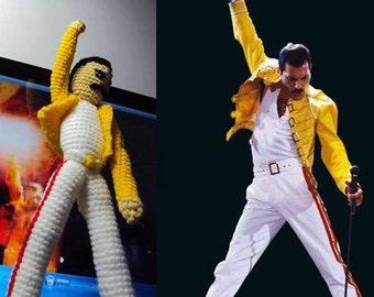 Freddie Mercury amigurumi crochet